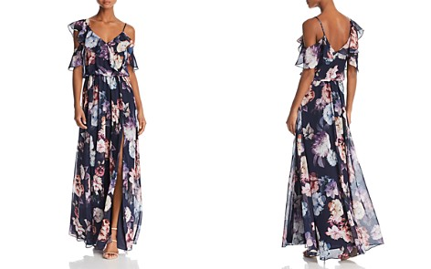 AQUA Floral-Print Ruffle Gown - 100% Exclusive - Bloomingdale's_2