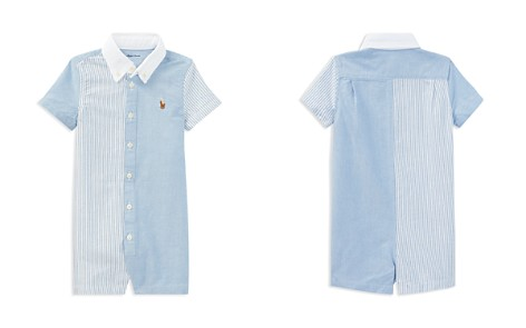 Ralph Lauren Boys' Contrast Fun Shirt Shortall - Baby - Bloomingdale's_2