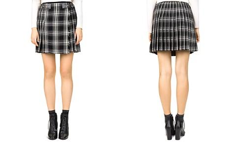 The Kooples Pleated Check-Print Skirt - Bloomingdale's_2