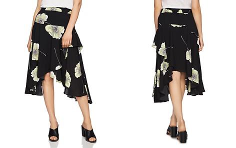 1.STATE Floral Print Asymmetric-Ruffle Midi Skirt - Bloomingdale's_2
