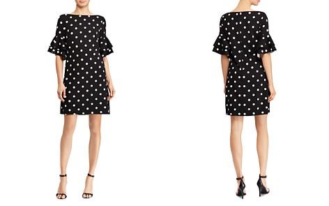 Lauren Ralph Lauren Petites Bell-Sleeve Polka-Dot Dress - Bloomingdale's_2