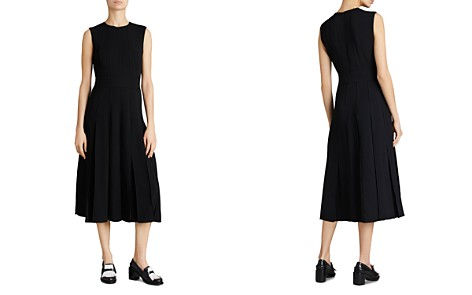 Burberry Aria Pleated Midi Dress - Bloomingdale's_2