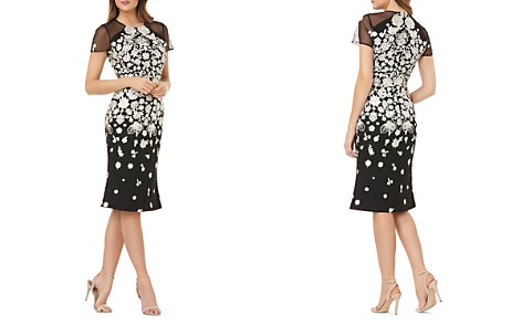 Carmen Marc Valvo Infusion Embroidered Cocktail Dress - Bloomingdale's_2