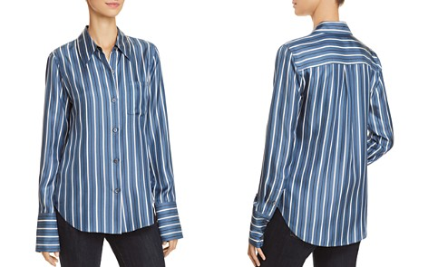 Theory Slim Silk Shirt - Bloomingdale's_2
