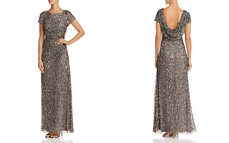 Adrianna Papell Beaded Cowl-Back Gown - Bloomingdale's_2