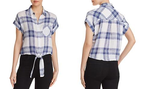 Rails Amelie Front-Tie Plaid Shirt - Bloomingdale's_2