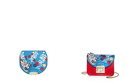 Furla MY PLAY Interchangeable Metropolis Mini Mayday Hummingbird Print Leather Flap - Bloomingdale's_2