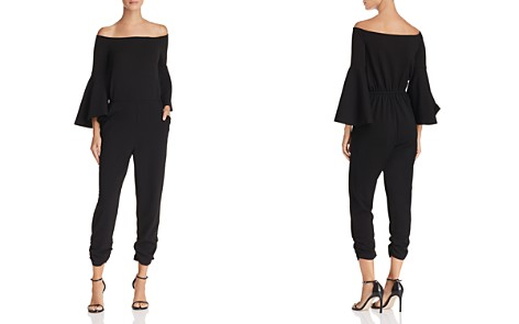 AQUA Off-the-Shoulder Bell Sleeve Jumpsuit - Bloomingdale's_2