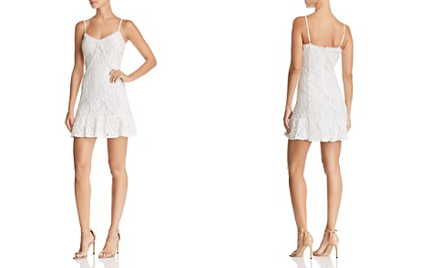 AQUA Ruffled Lace Slip Dress - 100% Exclusive - Bloomingdale's_2