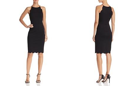 AQUA Scalloped Sheath Dress - 100% Exclusive - Bloomingdale's_2