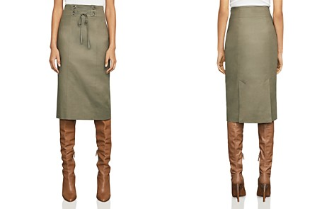 BCBGMAXAZRIA Briza Lace-Up Pencil Skirt - Bloomingdale's_2