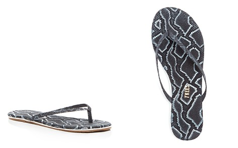 TKEES Studio Exotic Snake Embossed Leather Flip-Flops - Bloomingdale's_2