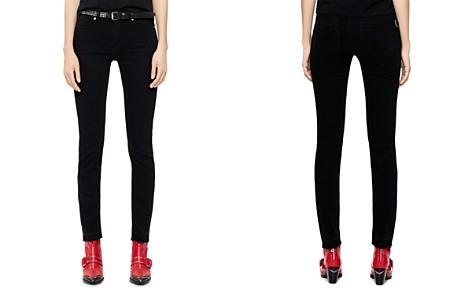 Zadig & Voltaire Eva Zip-Detail Skinny Jeans in Black - Bloomingdale's_2