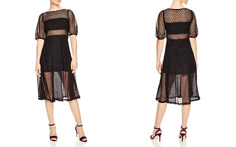 Sandro Malia Sheer Eyelet-Lace Midi Dress - Bloomingdale's_2