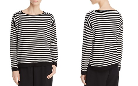 Eileen Fisher Striped Cashmere Sweater - Bloomingdale's_2