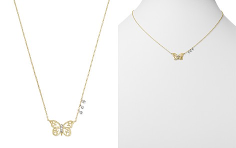 """Meira T 14K White & Yellow Gold Butterfly Pendant Necklace, 16"""" - Bloomingdale's_2"""