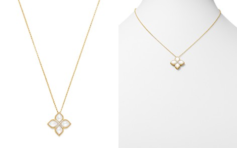"""Roberto Coin 18K Yellow Gold Venetian Princess Diamond & Mother-Of-Pearl Necklace, 16"""" - Bloomingdale's_2"""