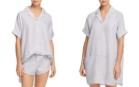 Calvin Klein Striped Sleep Tunic & Shorts - Bloomingdale's_2