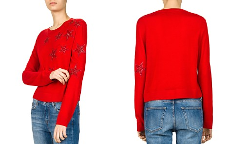 The Kooples Sparkling Star-Embroidered Sweater - Bloomingdale's_2