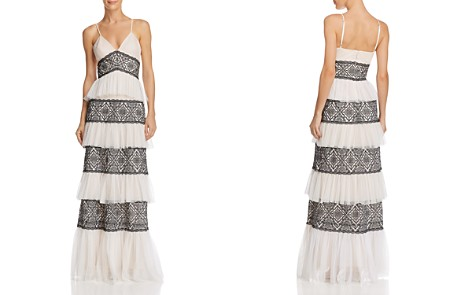 BCBGMAXAZRIA Tiered Lace Gown - Bloomingdale's_2