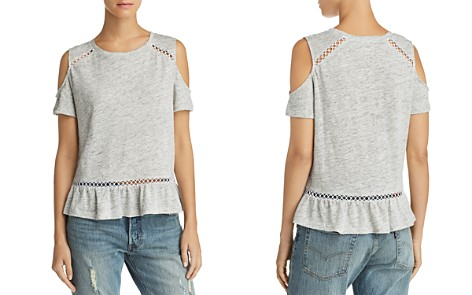 Generation Love Kendi Lace-Inset Cold-Shoulder Tee - 100% Exclusive - Bloomingdale's_2