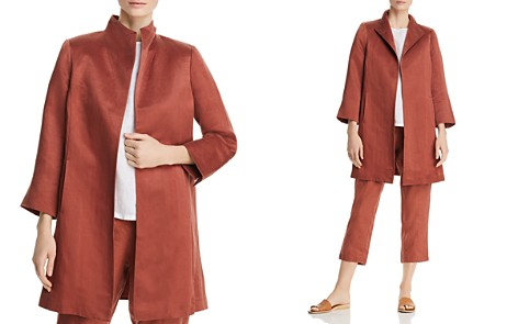 Eileen Fisher Stand Collar Coat - Bloomingdale's_2