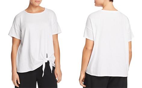 Eileen Fisher Plus Organic Cotton Tie-Front Tee - Bloomingdale's_2