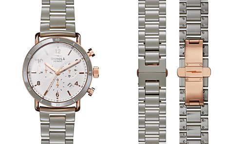 Shinola Canfield Link Bracelet Sport Chronograph, 40mm - Bloomingdale's_2