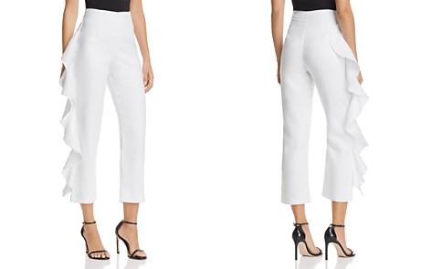Karina Grimaldi Marcus Cropped Ruffled Pants - Bloomingdale's_2