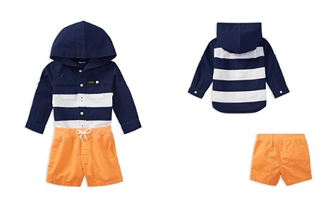 Ralph Lauren Boys' Ripstop Hooded Shirt & Chino Shorts Set - Baby - Bloomingdale's_2