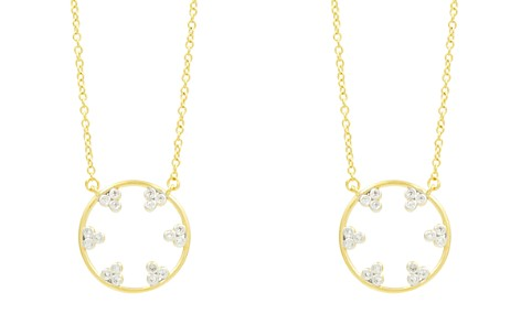 "Freida Rothman Fleur Bloom Pavé Hoop Pendant Necklace, 16"" - Bloomingdale's_2"