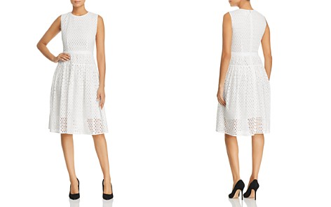 BOSS Dafalia A-Line Eyelet Dress - Bloomingdale's_2