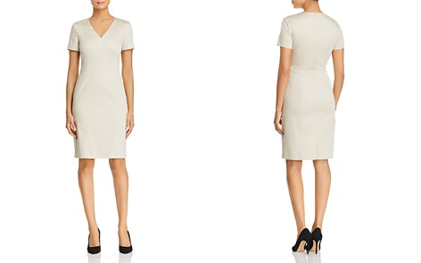BOSS Dasali V-neck Sheath Dress - 100% Exclusive - Bloomingdale's_2