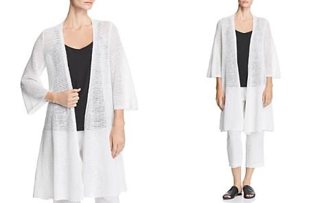 Eileen Fisher Long-Line Organic Linen Cardigan - Bloomingdale's_2
