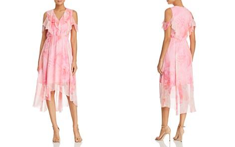 Elie Tahari Clintona Ruffled Cold-Shoulder Silk Midi Dress - Bloomingdale's_2