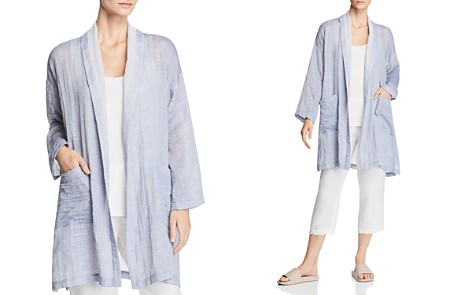 Eileen Fisher Shawl Collar Kimono Coat - Bloomingdale's_2