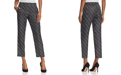 Theory Printed Silk Cropped Pants - Bloomingdale's_2