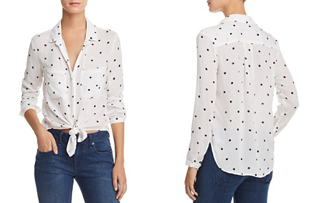 Bella Dahl Hipster Polka Dot Tie-Front Shirt - Bloomingdale's_2
