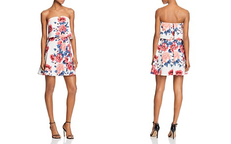 AQUA Floral Print Strapless Dress - 100% Exclusive - Bloomingdale's_2