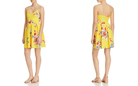 AQUA Floral Pleated Fit-and-Flare Dress - 100% Exclusive - Bloomingdale's_2