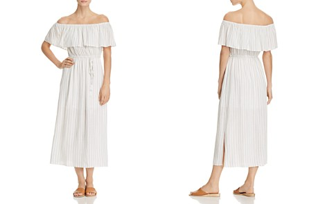 AQUA Striped Off-the-Shoulder Maxi Dress - 100% Exclusive - Bloomingdale's_2