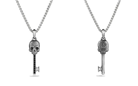 David Yurman Petrvs Skull Key Pendant with Black Diamonds - Bloomingdale's_2