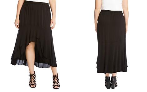 Karen Kane Plus Tiered High/Low Raw-Hem Skirt - Bloomingdale's_2