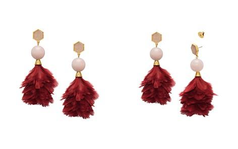 Tory Burch Feather Drop Earrings - Bloomingdale's_2