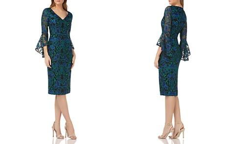 Carmen Marc Valvo Bell-Sleeve Lace Dress - Bloomingdale's_2