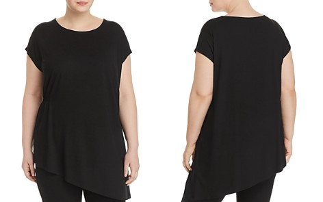 Eileen Fisher Plus Asymmetric Gathered Top - Bloomingdale's_2