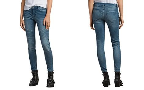 ALLSAINTS Biker Ankle Skinny Jeans in Indigo Blue - Bloomingdale's_2