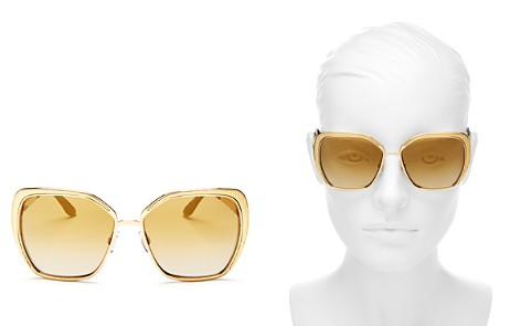 Dolce&Gabbana Mirrored Square Sunglasses, 56mm - Bloomingdale's_2