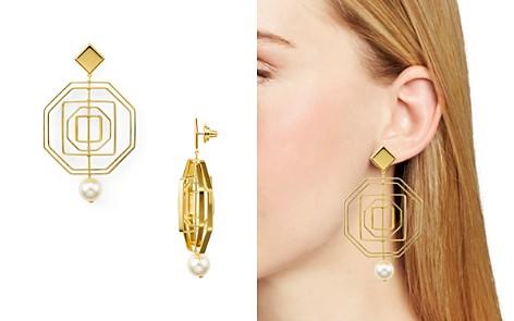 Tory Burch Geometric Pearl Statement Earrings - Bloomingdale's_2