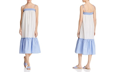 AQUA Striped Poplin Midi Dress - 100% Exclusive - Bloomingdale's_2